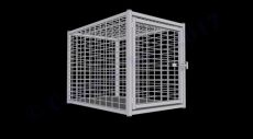 "Heavy Duty Dog Crate Steel Construction (SELECT HD CRATE SIZE: SQUARE MESH  47""D x 31""W x 36""H)"