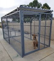 Commercial Quality Outside Dog Kennels Single Runs (SELECT DOG RUN: 6'W X 8'L X 6'H)