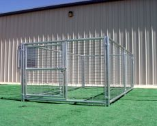 Single Run Kennels Strong Welded Steel Wire Construction (KENNEL SIZE: 6' X 12' X 4'H)