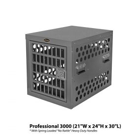 Heavy Duty Dog Crate Escape Proof Zinger Pro Series (SELECT PRO SERIES CRATE SIZE: PROFESSIONAL 3000  30L X 21W X 24H PR3000-2-FD)