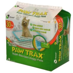 Paw Trax Pet Training Pads 30 Count White Richell R94541 (SELECT PAD QUANTITY: 30 COUNT  R94541)