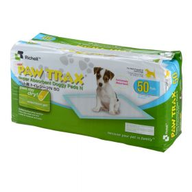 Paw Trax Pet Training Pads 30 Count White Richell R94541 (SELECT PAD QUANTITY: 50 COUNT  R94542)