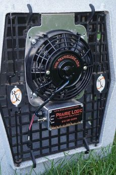 "Best Heavy Duty Dog Crate Fans by Prairie Logic (Select Fan Size: 7"" Fan w/Hanging Bracket)"
