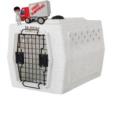 ROUGH TOUGH KENNELS AFFORDABLE DOG KENNEL (SELECT PLASTIC DOG CRATE SIZE: SMALL)