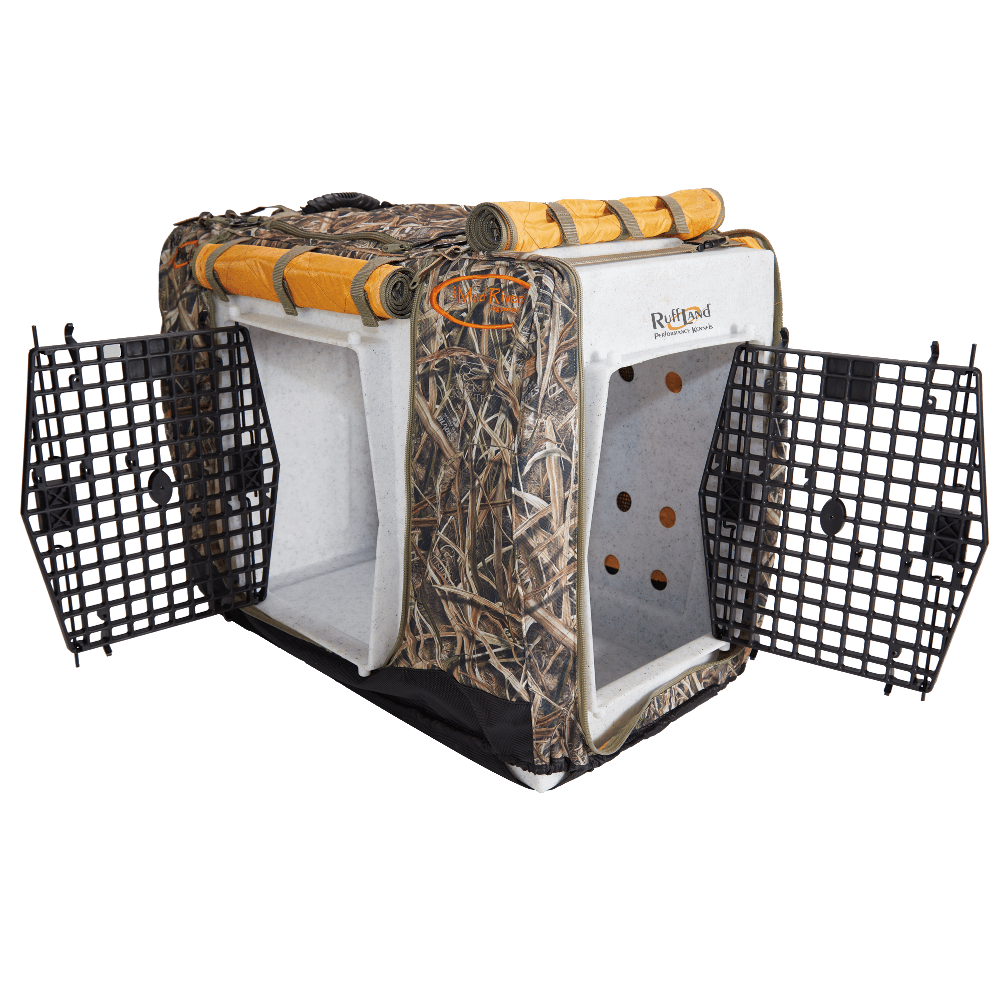 Mud River Dog Kennel Cover Ruff Land Double Door Kennels