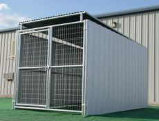 Enclosed Dog Kennels Provide Maximum Protection for Dogs (ENCLOSED KENNEL SIZE: 5' X 10' X 6'H)