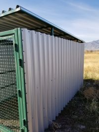 Xtreme Dog Kennels & Dog Runs Commercial Quality Enclosed (SELECT ENCLOSED KENNEL SIZE: 5'W X 10'L X 6'H)