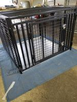 Giant Heavy Duty Dog Crate Escape Proof Indestructible Steel (SELECT GIANT CRATE SIZE: MEGA MAX GIANT 54 X 42 X 44H)
