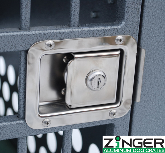strong aluminum dog crates by zinger deluxe series