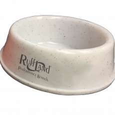Dog Bowl by Ruff Land Kennels (SELECT BOWL SIZE & COLOR: Small White)