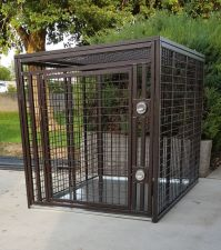 Giant Heavy Duty Dog Crate Escape Proof Indestructible Steel (SELECT GIANT CRATE SIZE: MEGA MAX GIANT 54 X 42 X 45H)