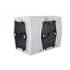 ROUGH TOUGH KENNELS AFFORDABLE DOG KENNEL (SELECT PLASTIC DOG CRATE SIZE: INTERMEDIATE DOUBLE DOOR RIGHT SIDE ENTRY)
