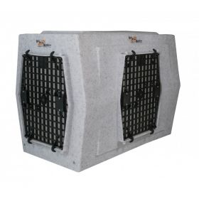 ROUGH TOUGH KENNELS AFFORDABLE DOG KENNEL (SELECT PLASTIC DOG CRATE SIZE: LARGE DOUBLE DOOR RIGHT SIDE ENTRY)
